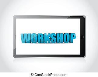 tablet. workshop illustration design