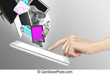 tableta, computadoras
