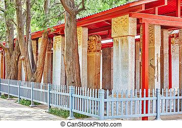 tableta de piedra, confucius, confuciano, dentro, beijing-...