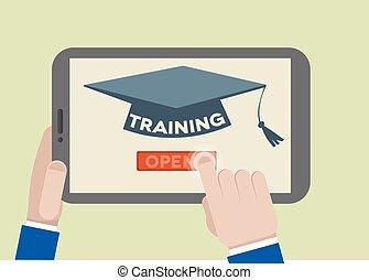tableta, entrenamiento