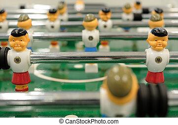 Tabletop football - Close up of tabletop football