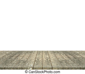 tabletop - Old grunge wooden tabletop with white space...