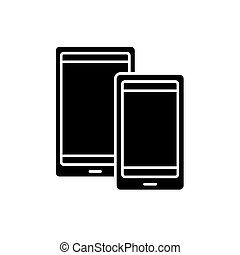 Tablets black icon, vector sign on isolated background. Tablets concept symbol, illustration