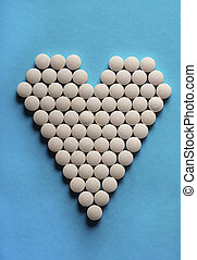 Tablets in form of heart