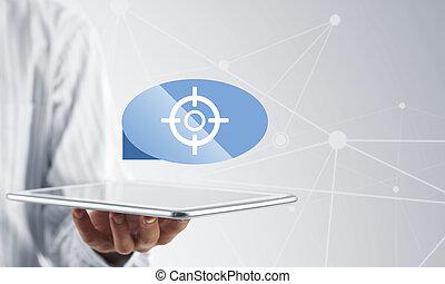 tabletta, alkalmazás, ikon