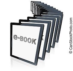 tabletta, e-books, felnövés, új, mutatók, népszerűség, ...