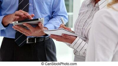 tablette, affaires gens, pc, utilisation