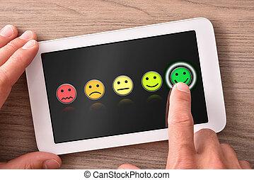 tablette, bois, positif, fond foncé, table, évaluation