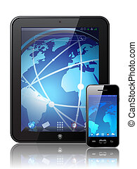 tablette, digital, vektor