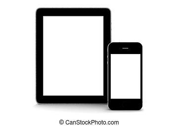 tablette, et, téléphone