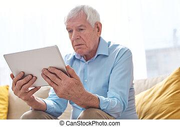 tablette, film regardant