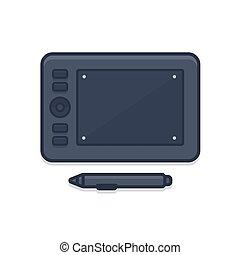 tablette graphique, icône