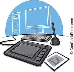tablette graphique, numérique