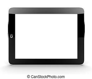 tablette, isolé, blanc