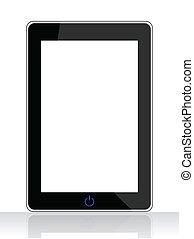 tablette, isolé, pc, fond, blanc, spécial