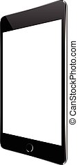 tablette, mockup, isolé, vecteur, conception, noir, blanc
