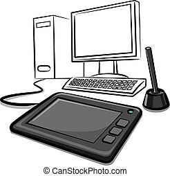 tablette numérique, graphiques