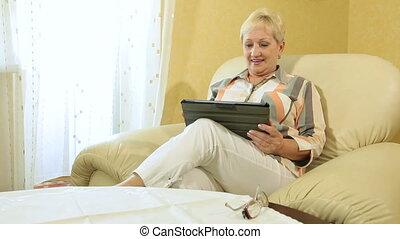 tablette, numérique, maison, utilisation