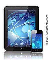 tablette, numérique, vecteur