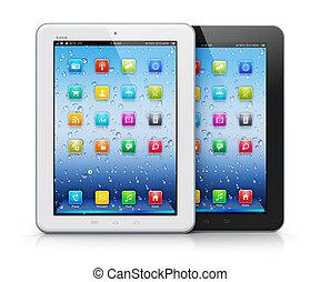 tablette, ordinateurs