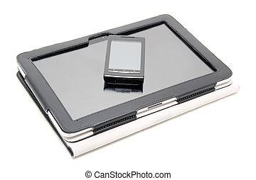 tablette pc, und, touchscreen, smartphon