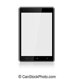 tablette, pfad, ausschnitt, computerbildschirm, leer, included, hintergrund, weißes