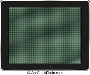 tablette, réaliste, isolé, ordinateur pc, fond, blanc