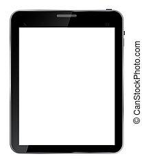 tablette, résumé, isolé, réaliste, conception, écran blanc