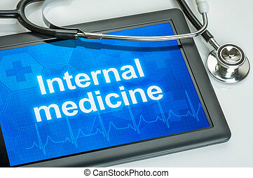 tablette, spécialité médicale, médecine interne, exposer