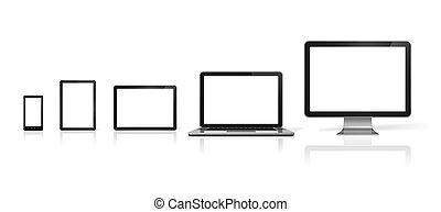 tablette, téléphone, mobile, ordinateur portable, ordinateur pc, numérique