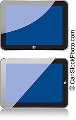 tablette, vecteur, concept, ps