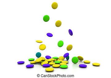 tabletten, bunte