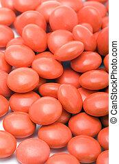 tablettes, closeup, rouges