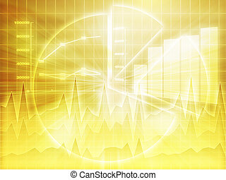 tableur, business, diagrammes