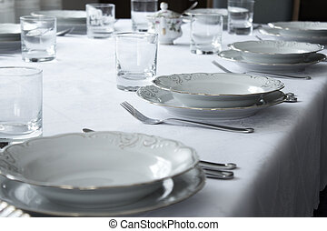 Bright shot of a elegant and white tableware.