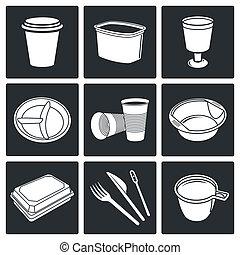 tableware, disponibile, icone