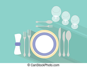 Tableware - Formal tableware setting.