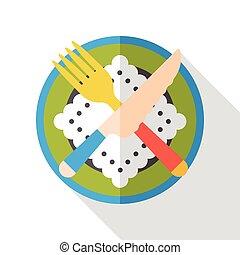 tableware flat icon