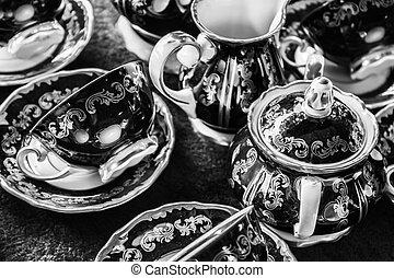 Tableware in Flea market