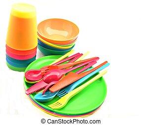 tableware, plastica