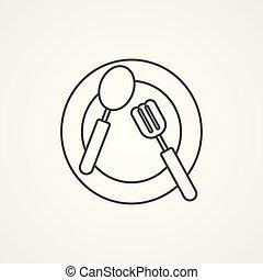 tableware vector icon sign symbol
