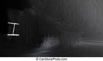 tablica, blackboard./