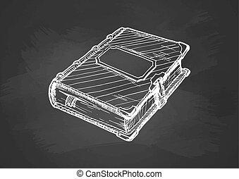 tablica, książka, stary