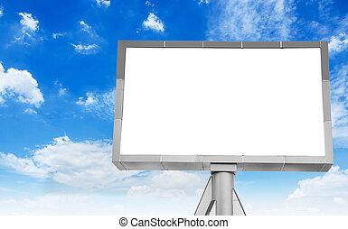 tablica ogłoszeń, błękitne niebo, czysty