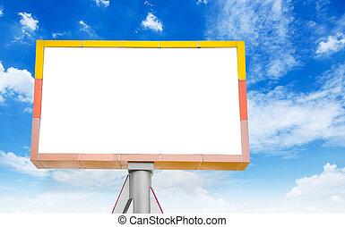 tablica ogłoszeń, błękitny, czysty, sky.