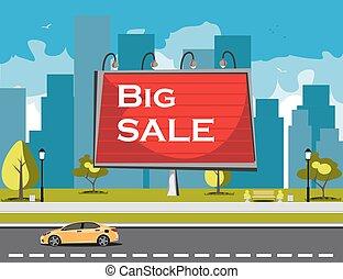 tablica ogłoszeń, cielna, sprzedaż, miasto