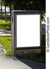 tablica ogłoszeń, czysty