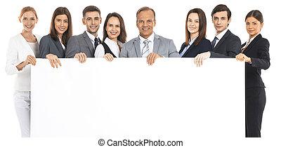 tablica ogłoszeń, drużyna, handlowy, dzierżawa, czysty