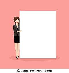 tablica ogłoszeń, kobieta spoinowanie, handlowy