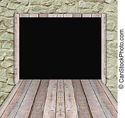 tablica ogłoszeń, nowy, drewno, reklama, czysty